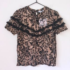NWT ZARA lace floral top
